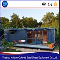 chinese factory prefabricated 40 foot steel and glass modern container house