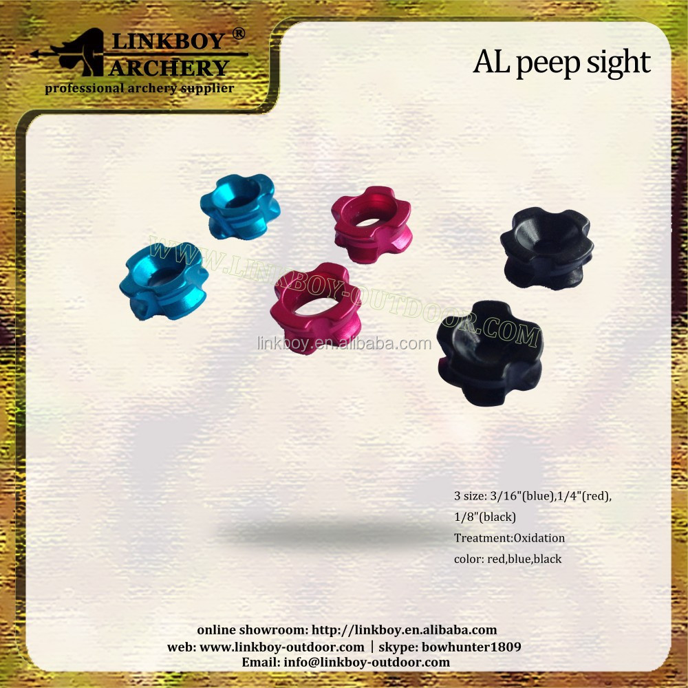 Linkboy LBC006 archery AL peep sight for arrows hunting