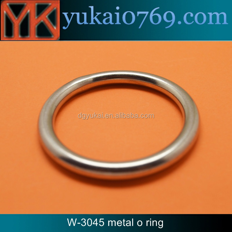 Yukai silver metal o ring for bags/hardware for bag accessories metal round ring