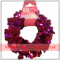 New Iridescent Red Valentine's Heart Tinsel Diecut 25 ft Decorative Wire Garland