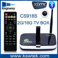 CS918S Built in 5.0MP Camera with MIC 4K Andriod Smart TV Box Quad Core Google 2GB/16GB XBMC Bluetooth WIFI