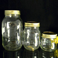 colored glass canning jars