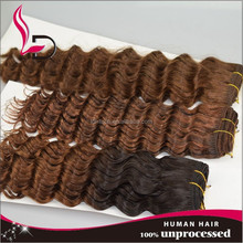 Hot Selling New Design 100% Natural Human Hair Color 33 Curly Indian Remy Hair