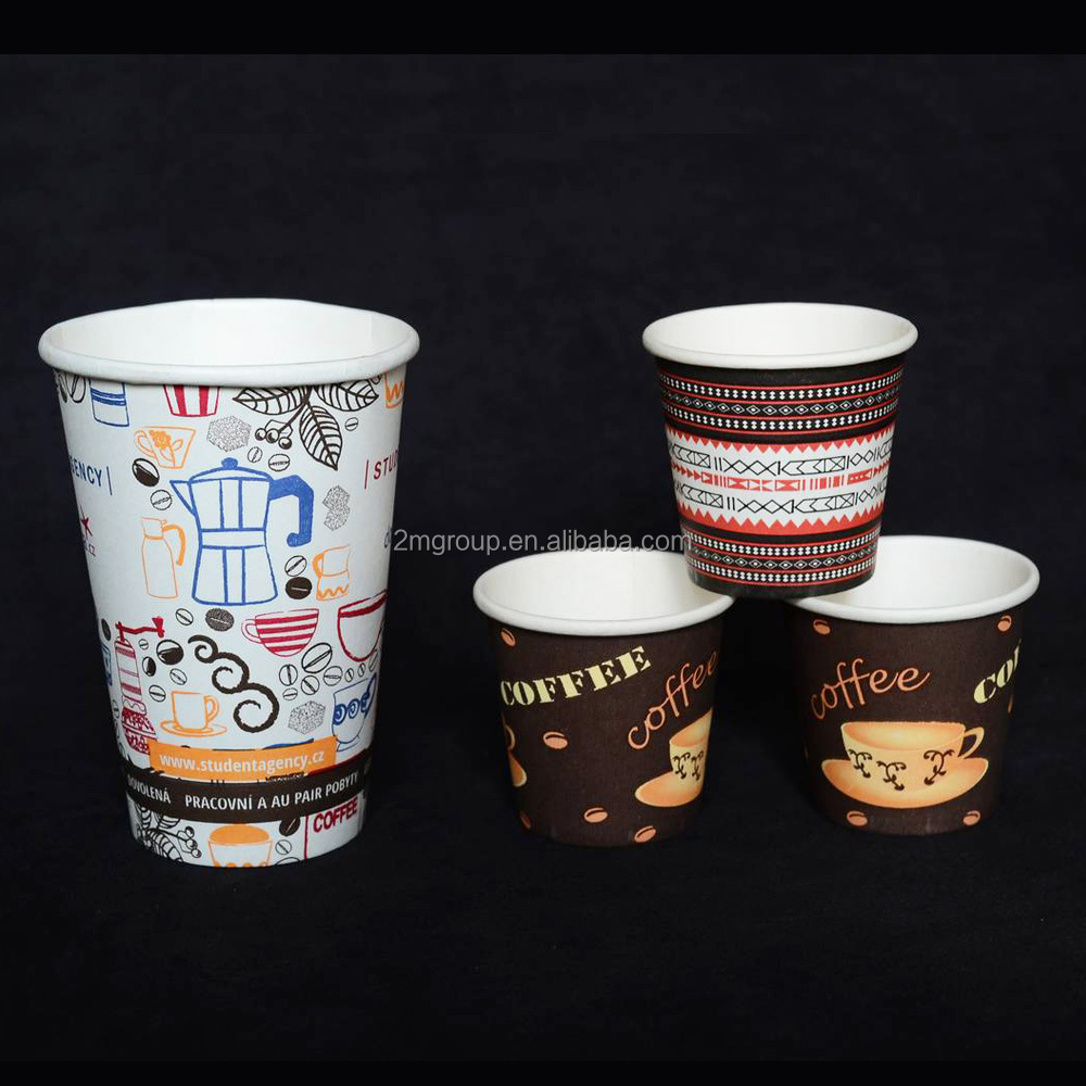 8oz Paper Cups Hot Cold Coffee Tea Disposable Party Drinks