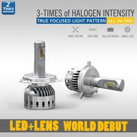 Modern design h4 led car headlight kit with unique lens