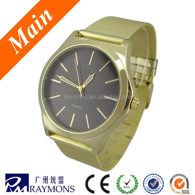 2014 Best sellling men's quartz stainless steel watch
