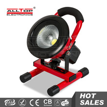 IP65 portable red color 10w battery powered led outdoor flood light
