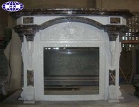 decorative marble artificial stones fireplace mantel