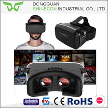 Factory directly high quality vr shinecon 3d virtual reality helmet, 3d vr glasses smartphone