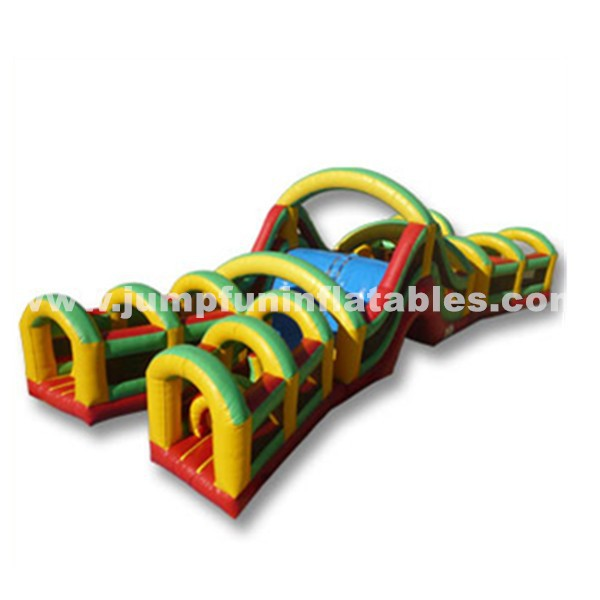 Inflatable Bounce Obstacle Course/Inflatable Children Slide and Obstacle playground/Moonwalk house