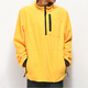 Wholesale coat men half zip yellow tech fleece jacket