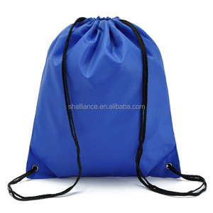 Folding and Portable Polyester Drawstring Bag