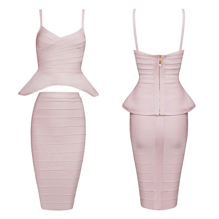 2017 Fashion summer midi dresses lady formal bandage sexy body con dress for wholesale