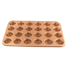 Grand Innovation Non Stick Dishwasher Safe 24 Pc Copper Cupcake Baking Pans, Cookie Sheets & Much More!