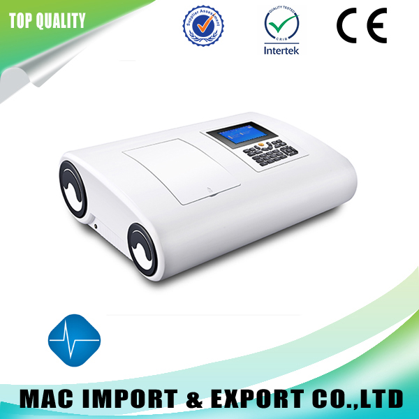 Wide screen double beam UV/VIS spectrophotometer popular design high quality