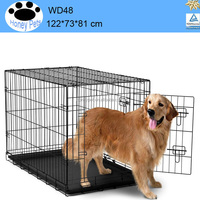 NEW iron dog cage Pet Crate Kennel Travel Portable Cage Puppy Gate Training