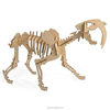 Educational wood 3D puzzle Sabre Toothed Tiger toys for kids