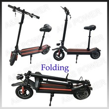 10 inch electric kick scooter for adult with seat and handle