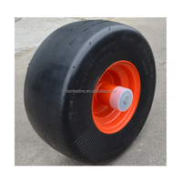13 x6.50-6 flat free rubber wheel with smooth tread for zero turn radius commercial mowers