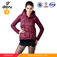 OEM custom goose down jacket for the winter apparel clothes outdoor wear waterproof jacket feather filled overcoat woman jacket