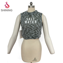 New Designed Wholesale Ladies crop tops for women sexy tops open back sequence blouse designs