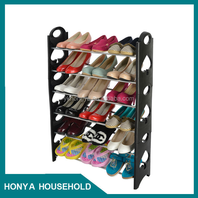 portable metal shoe rack round