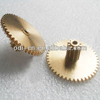 machining double spur gear,brass cluster gear,toy gear