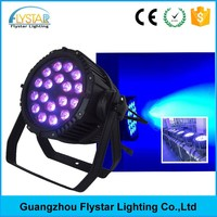 China suppliers outdoor waterproof 18pcs 15w 5in1 Rgbwa led stage par can lights