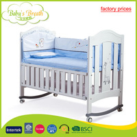 WBC-22A factory prices multi-purposes baby cot dimensions adjustable baby cot wheels
