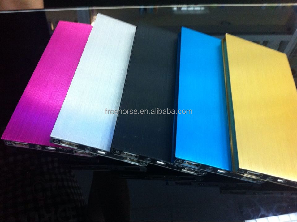 2014 ultra thin book style external battery power bank 10000mah