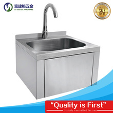 201/304 Stainless Steel Knee-operated Hospital Hand Washing Sink Wall-mounted Sink