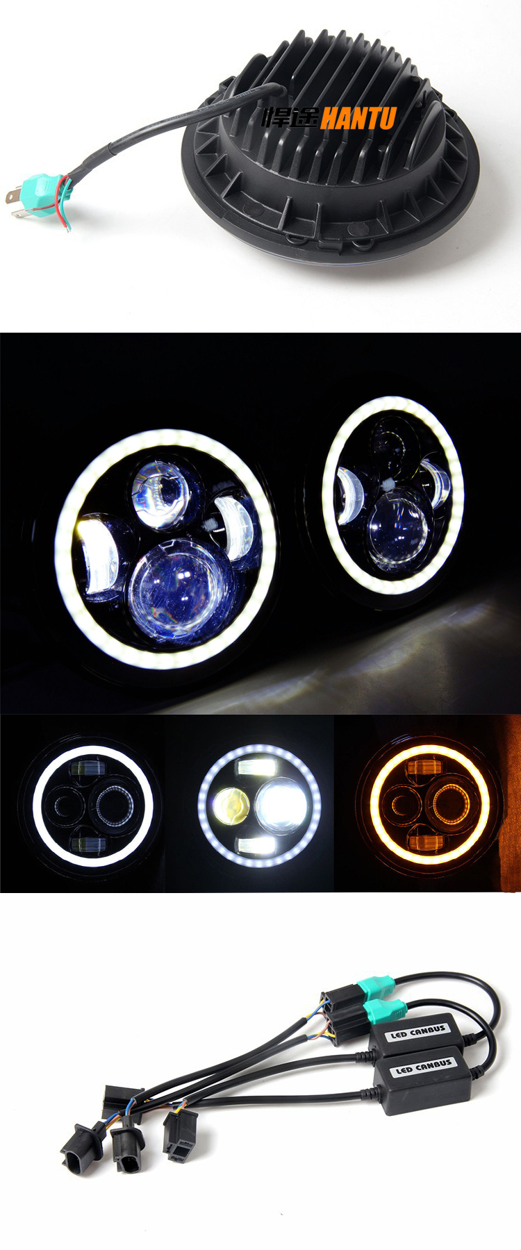 off road led light with angel eye solar rechargeable led work light bridgelux chip led working light