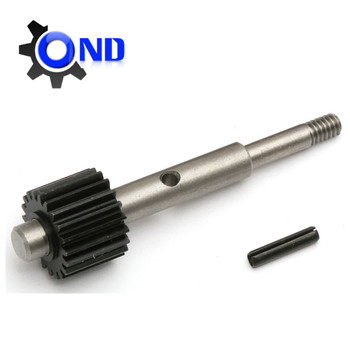 High-frequency Hardening spline and Gear Shaft with black oxide
