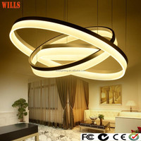 Blazing LED light acrylic ring shape chandeliers from china