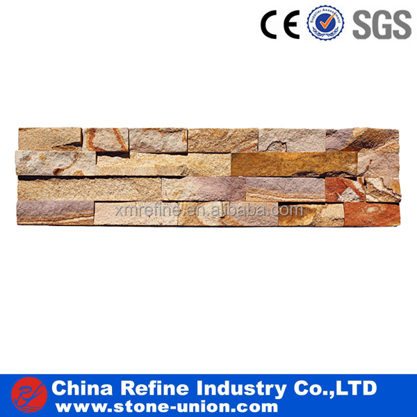 Natural rusty slate culture stone exterior wall cladding stone