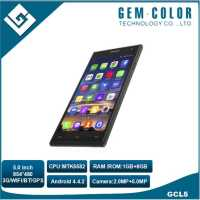 5.0 inch Mobile Phone ,MTK6582 Quad Core 1.3GHz Android 3G Smart Phone 1GB+8GB