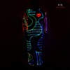 Unique DMX512 Controlled full color changing Fiber optic tron dance costume 2016 Hot