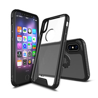 2 in 1 TPU bumper PC clear anti-scratch shockproof case for iphone 8 case hard