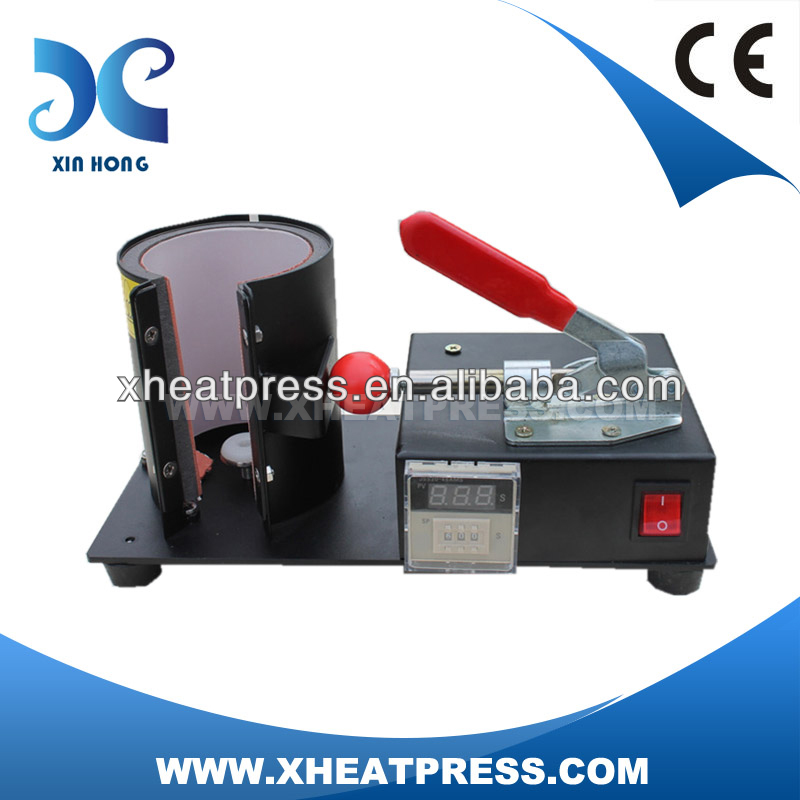 digital manual coffee mug printing stamping machine cup transfer press