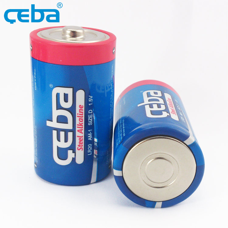 Low Price Custom 1000mAh 1.5V Triple Battery D Size Alkaline