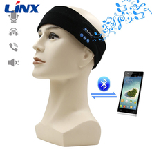 Super Soft Knitted Headband Bluetooth Stereo Sleep Headphones Wireless with Ultra Thin Speakers