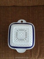 Square type delf plastic folding basket for kitchen