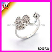 SILVER 925 JEWELLERY HOT SALE SILVER RING WITH ZIRCON/BEAUTIFUL FLOWER LINK SILVER RING