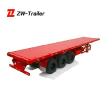 China Factory Supply Best-selling New Tri-axle Flat Bed Semi Trailer
