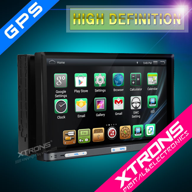 2016 Xtrons new model TD719A 2din universal car radio with navigation