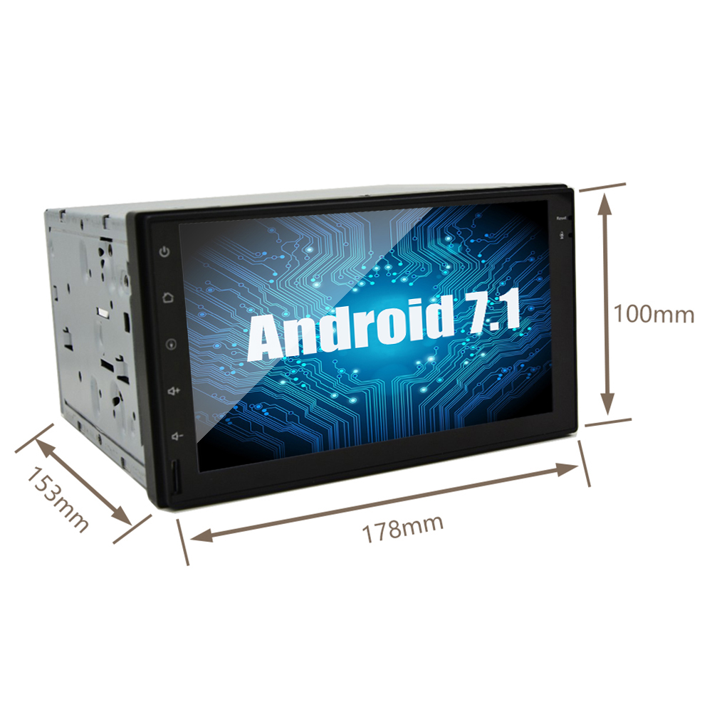 "7"" 2 Din Android 7.1 Car No DVD Radio Multimedia Player 1024*600 Universal GPS Navigation autoradio Stereo Audio"