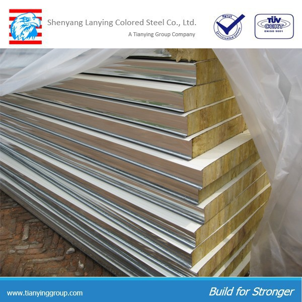 Ceiling panel mineral wool sandwich panel made in China