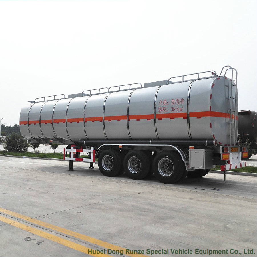40Ton Carbon Steel Fuel Tank Trailer To GHANA