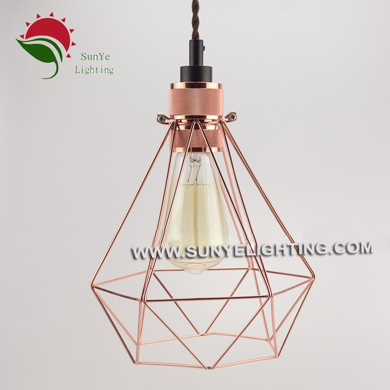 Hot Sale Colourful Hanging Lamp Bird Cage Lamp,Edison Light Bulb Cage Lamp - Buy Light Bulb ...