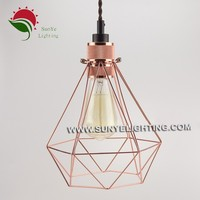 Hot Sale Colourful Hanging Lamp bird cage lamp,Edison Light Bulb Cage Lamp